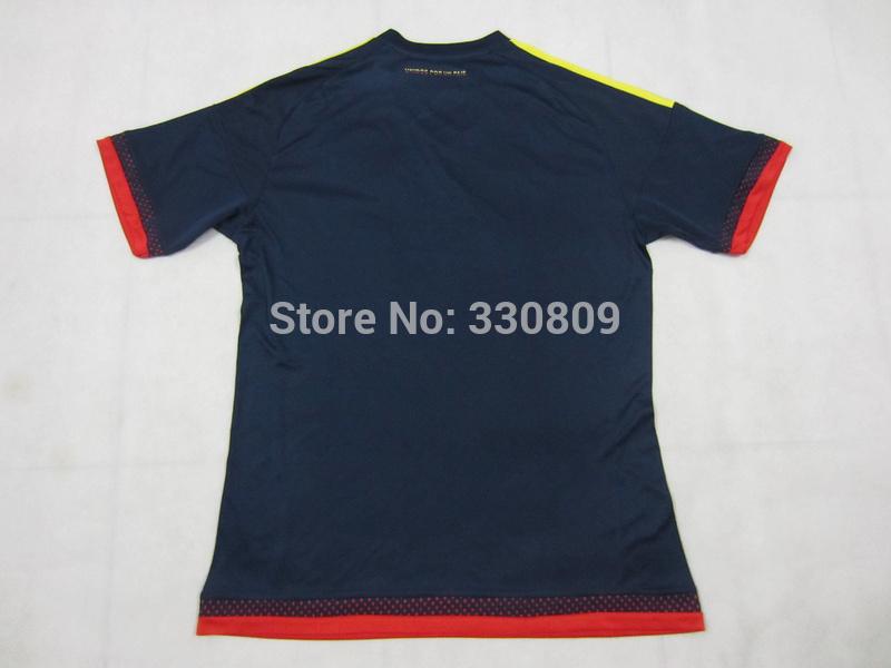 Free shipping 2015 colombia football jerseys top thai 1:1 quality colombia away shirts colombia football jersey(China (Mainland))