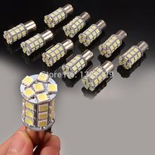 10 X White 1156 BA15S LED 27-SMD Light bulbs Tail Backup RV Camper(China (Mainland))