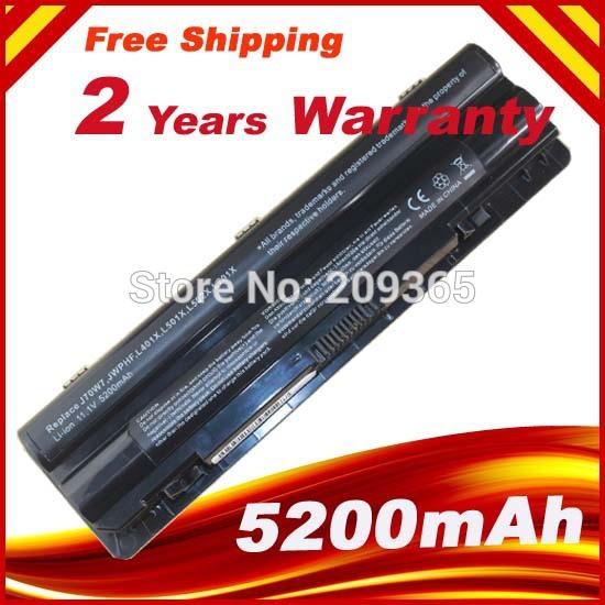 6 Cell 4400mAh 11.1V Battery for DELL XPS 14 15 17 L401x L501x L502x L701x L702x+ Free shipping(China (Mainland))