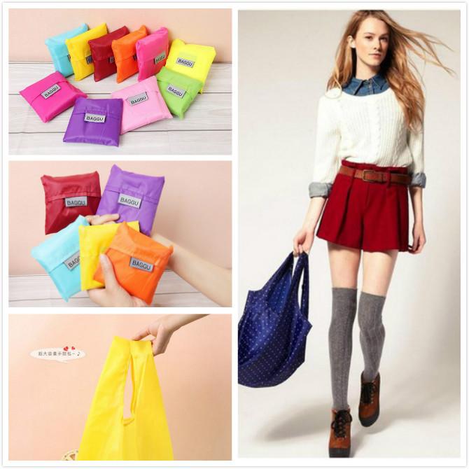 Fashion Reusable Folding Shopping Bag Travel Bag Grocery Bags Tote new 2015(China (Mainland))