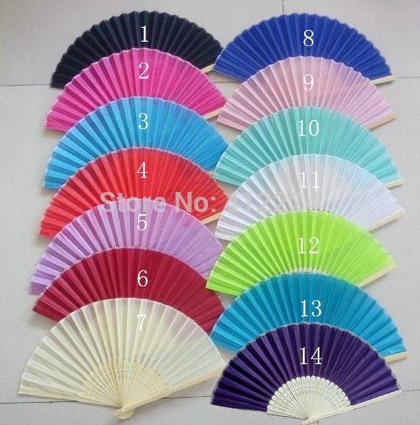 Free Shipping+Wholesale Folding Wedding Silk Fan Wedding Favors wedding gift,100pcs/lot(China (Mainland))