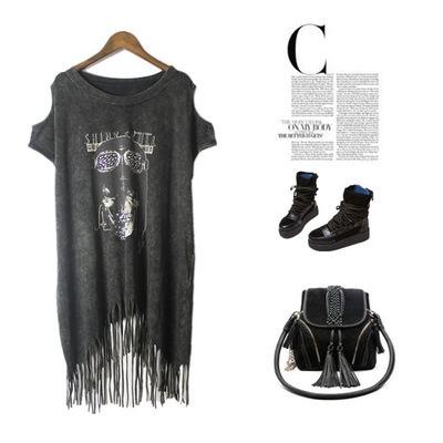 все цены на Женская футболка Punk rock t camisetas ropa mujer /pok camisa