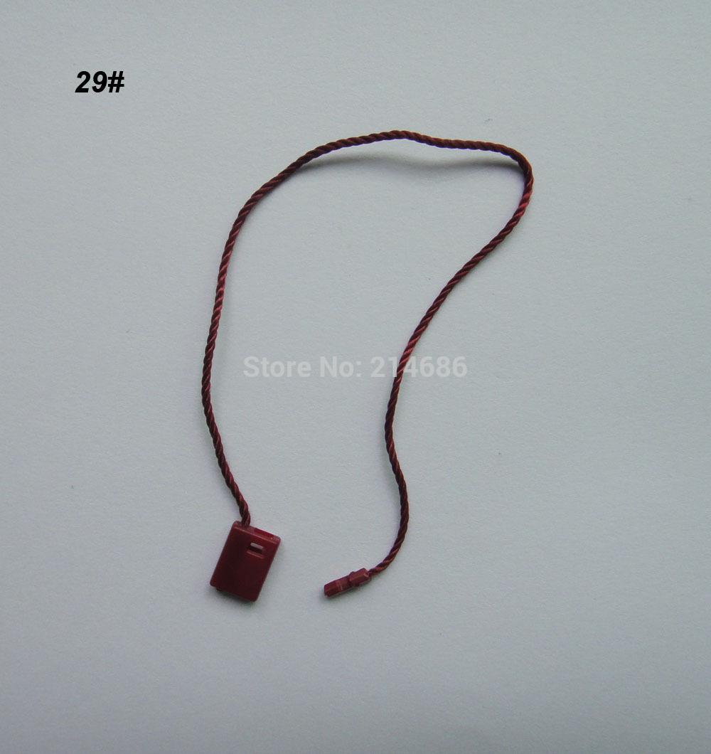 "Wholesale 1000pcs Dark Red Garment Tags Hang String plastic Snap Lock Pin Loop Fastener Hook Ties tablets Accessories 18cm 7""(China (Mainland))"