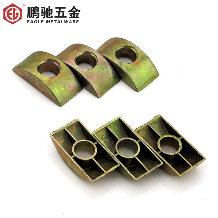 Half pad / semi mat / half nut / desk connector / Quad / alloy crescent pad M8(China (Mainland))
