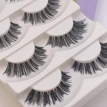 hot sale 5 Pairs Lot Black Cross False Eyelash Soft Long Makeup Eye Lash Extension fashion