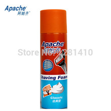 NEW classic menthol cologne lemon Apache Aftershave for Men Shaving foam shaving cream 230g Free Shipping(China (Mainland))