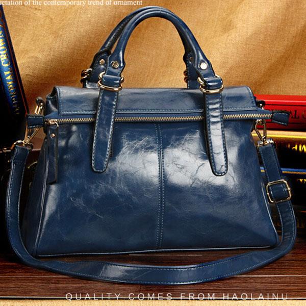 2015 new leisure big handbags oil wax leather handbag shoulder bag crossbody bags for women replica designer handbag V60G92(China (Mainland))