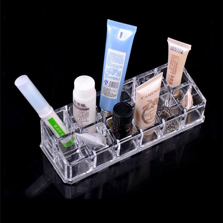 12 factory direct wholesale transparent crystal lattice slot lipstick lipstick cosmetic utensils simple storage box(China (Mainland))
