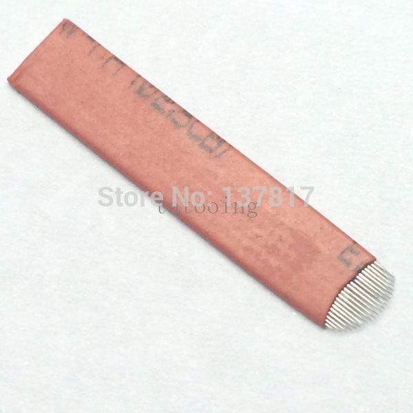 100 PCS maquiagem permanente descartável sobrancelha lâmina 21 agulhas Arc para Makeup Manual permanente Pen Tattoo supplies(China (Mainland))