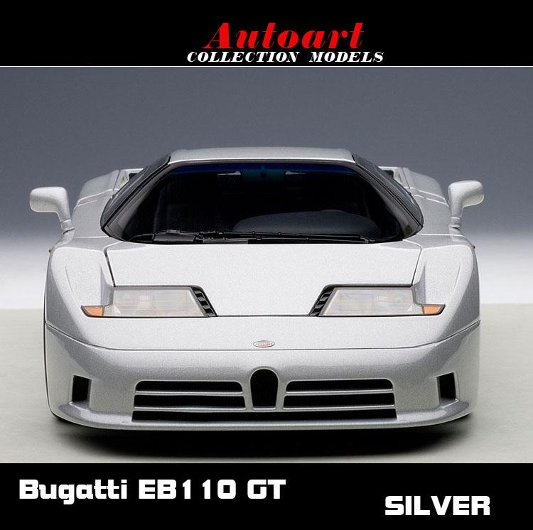 1:18 Autoart Bugatti EB110 GT silver Alto Bugatti car model(China (Mainland))