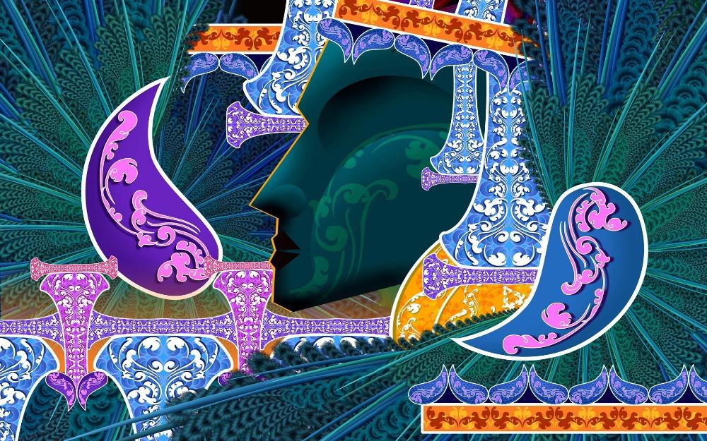 Decoracion Egipcia Hogar ~ Art Deco de pintura abstracta egipcia princesa decoraci?n del hogar