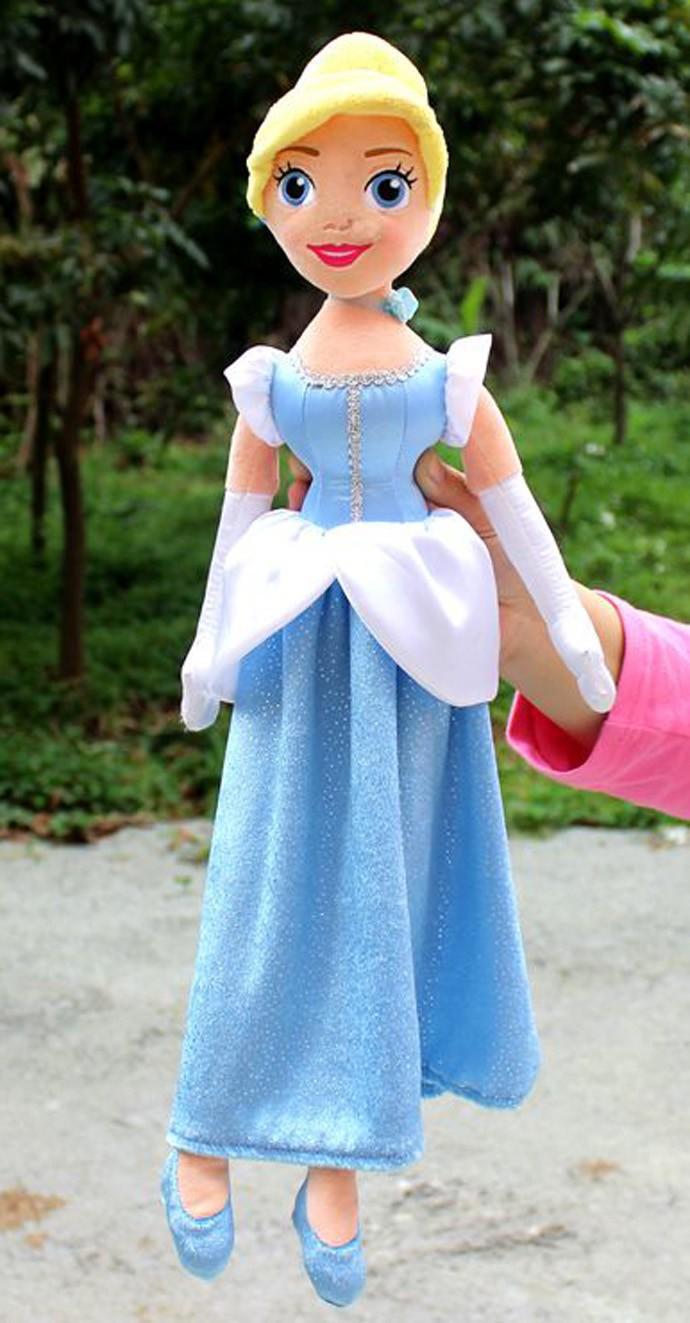 Baby girls plush princess toys for children Cinderella Toddler cute kids nova dolls rapunzel action figure anime 55cm 21.5inch(China (Mainland))