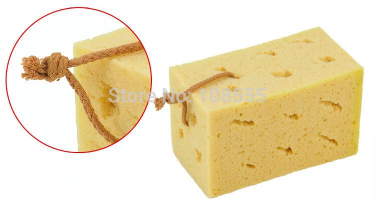 1PCS 17*10*9cm yellow colour coralline Spongia Car cleaning Sponges Cloths & Brushes macropore Spongia#1264(China (Mainland))