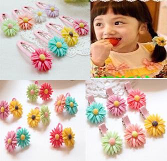 Baby Girls Hair Clip Band Hairpins Toddler Kids Flower Pumpkin Fashion Gift 6 Colors Drop Shipping(China (Mainland))