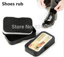2015 Hot selling high-quality multi-functional shoe polish shoes rub rub sponge brightening sided(China (Mainland))