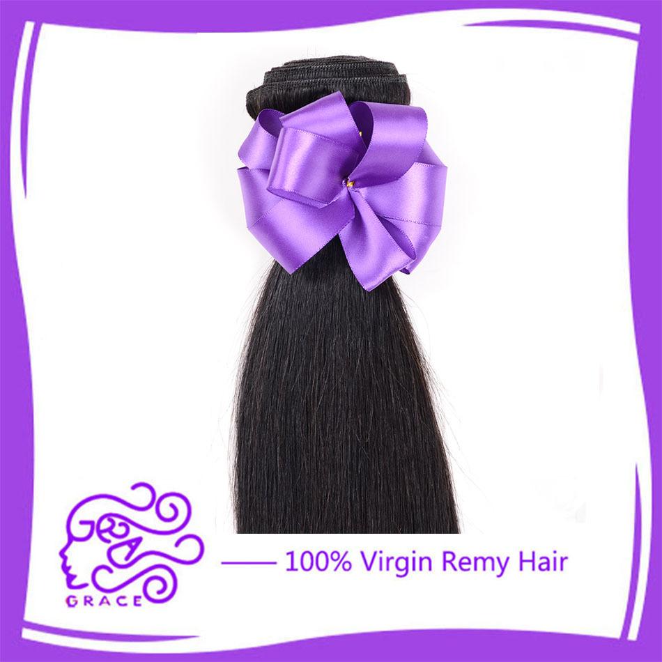 brazilian virgin Hair straight weave cheap grace hair products bundles natural black color 4pcs bob hair cambodian virgin hair(China (Mainland))