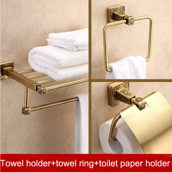 European Style Antique Bronze Bath Hardware Hanger Set Discount Package Towel Rack Paper Holder Towel Ring Bathroom Accessories(China (Mainland))