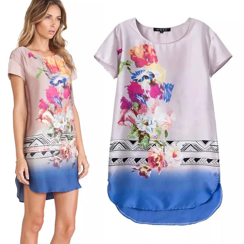 Mia fashion 2015 women clothes spring summer vintage floral print o