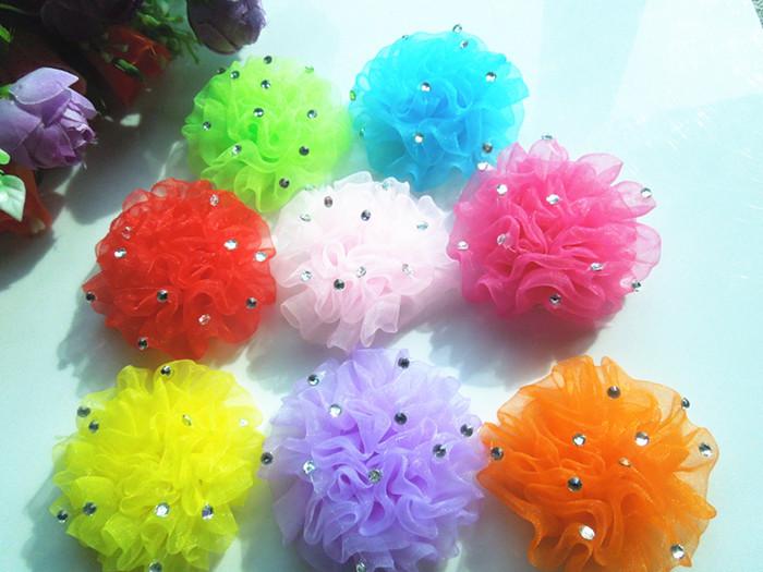 2015 Free shipping 50pcs2.5inch ribbon bow hair band clip, baby hair bows / hairpin / hairpin accessories(China (Mainland))
