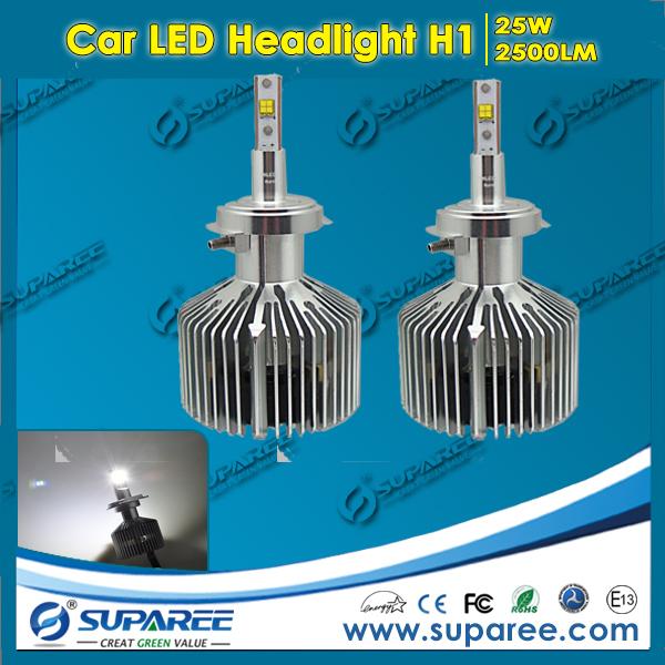 1 Set New Product 25w 2500lm H1 LED Headlight Good Quality H1 Single Beam Bulb H1 Led Light Kit 6000K Fog Lamp(China (Mainland))