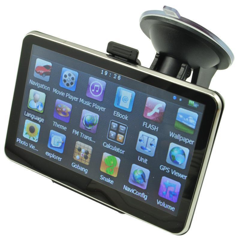 5 Inch Auto Car GPS Navigation Sat Nav 4GB 2014 New Map WinCE 6 0 FM