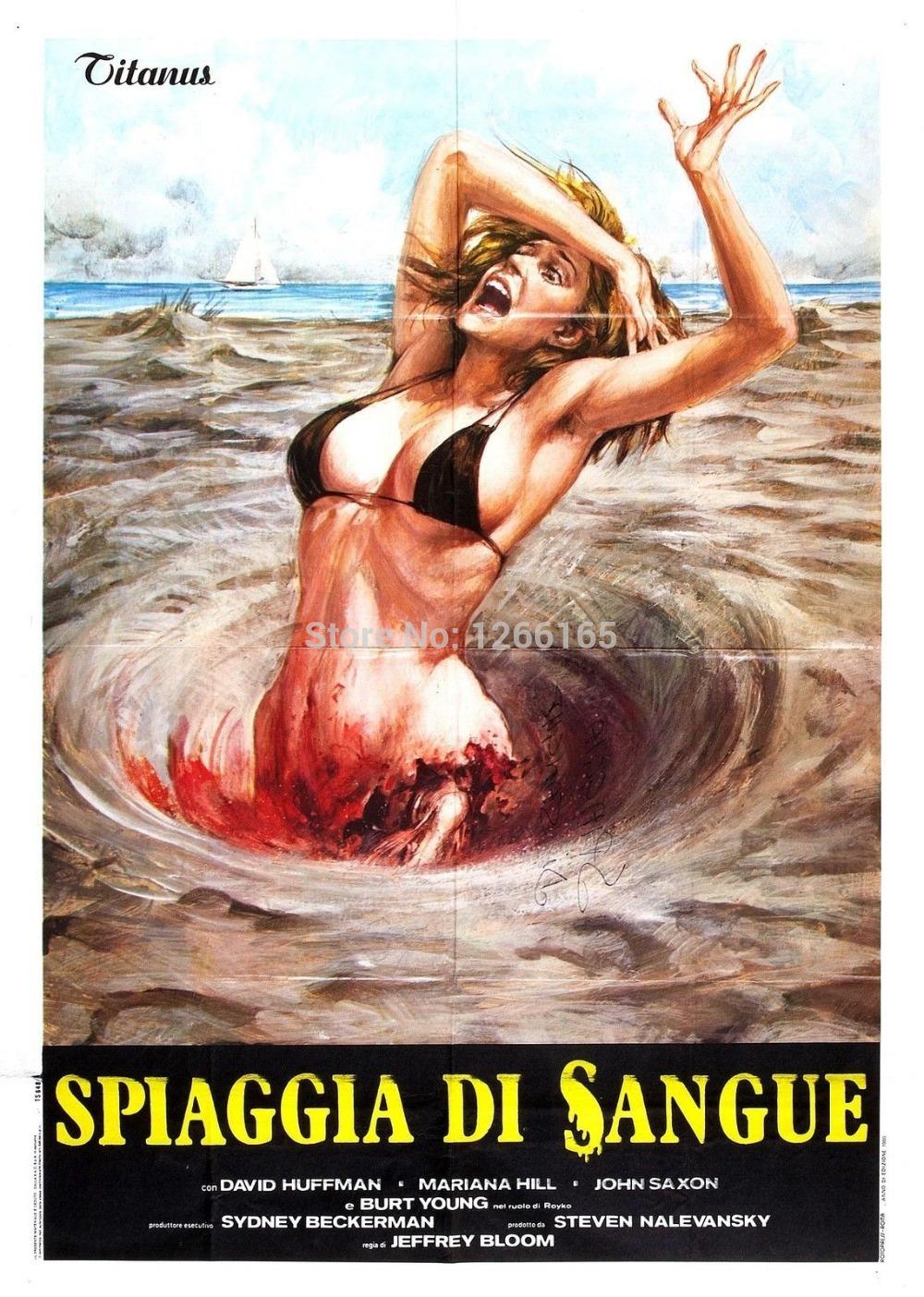 1980s Movies Blood Beach Movie Poster 1980