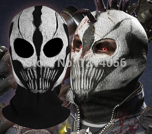Wholesale 2015 Quality Replica Ghost Ski Full Face Mask Biker Totenkopf Skull Face Motorrad Mask Windmask outdoor cycling hood(China (Mainland))