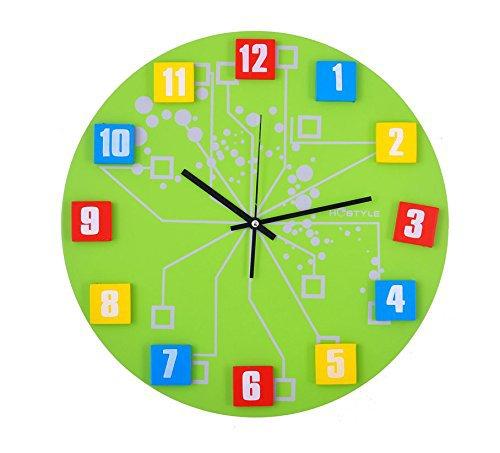 "Three-dimensional Digital Wall Clock Art Mute 16""(China (Mainland))"