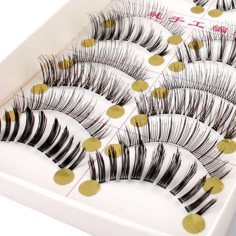 10 Pair Differ Style Natural Long False Eyelashes Eye Lash Makeup #8(China (Mainland))