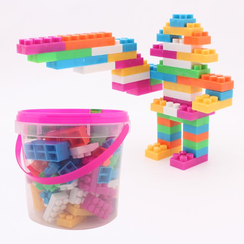 Educational toys drum assembling 104 plastic building blocks intelligence building blocks(China (Mainland))
