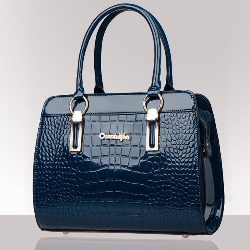 Brand New Crocodile Messenger bag High Quality Handbags Women Patent Leather Bags Women Handbags Bag of Famous Brands(China (Mainland))