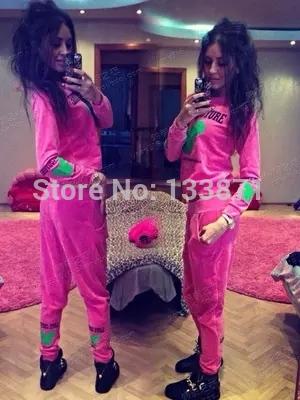 Women Sports suit 2015 Fashion 2pcs moletom Hoodies harajuku sudaderas sport suit Velvet love couture sweatshirt tracksuits(China (Mainland))