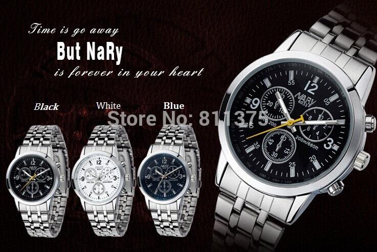 2015 NEW Brand Quartz watches Man Business Watch Luxurywatches Man full Steel watch waterproof shockproof watch(China (Mainland))