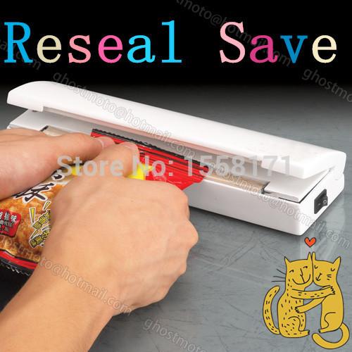2015 Food Vacuum Sealer Portable seladora a vacuo Reseal Save Airtight Plastic Bag Keep Food Fresh Closer Machine Kitchen Tool(China (Mainland))