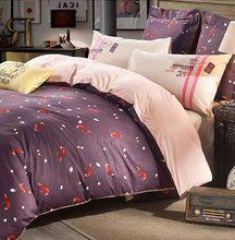 Vintage design cartoon double bedding set,full queen king cotton european retro bedclothes bed sheet pillow case quilt cover(China (Mainland))