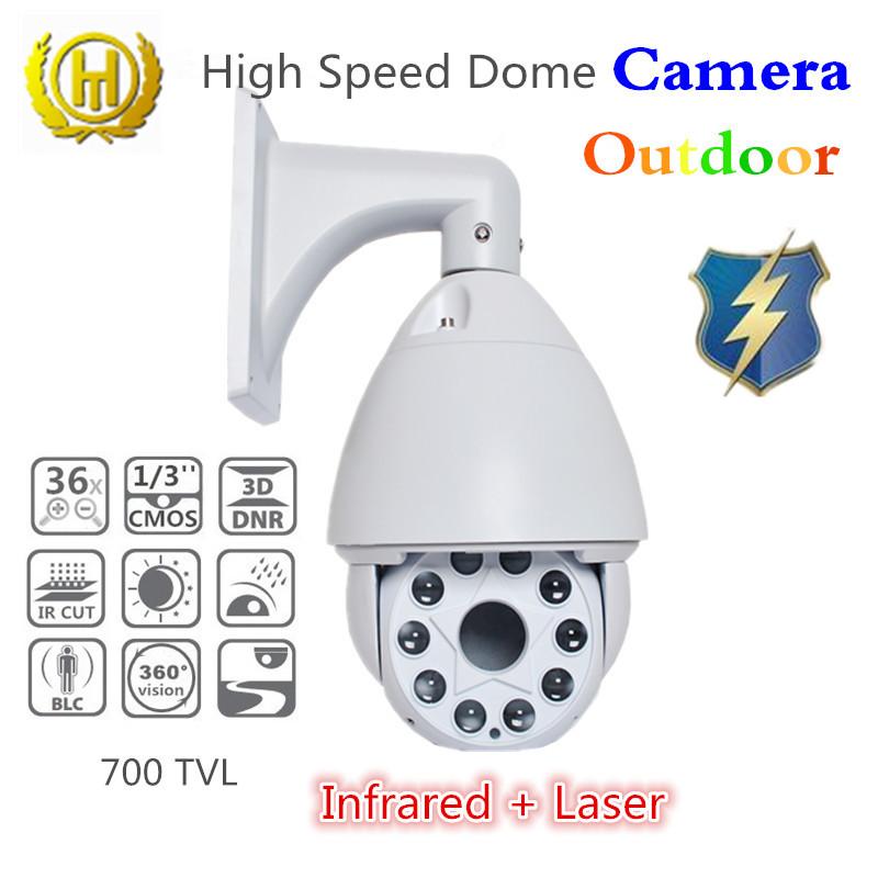 laser and ir illuminator night vision camera sony 1/3'' CMOS CCTV camera video monitor camera zoom optical 36x for outdoor(China (Mainland))