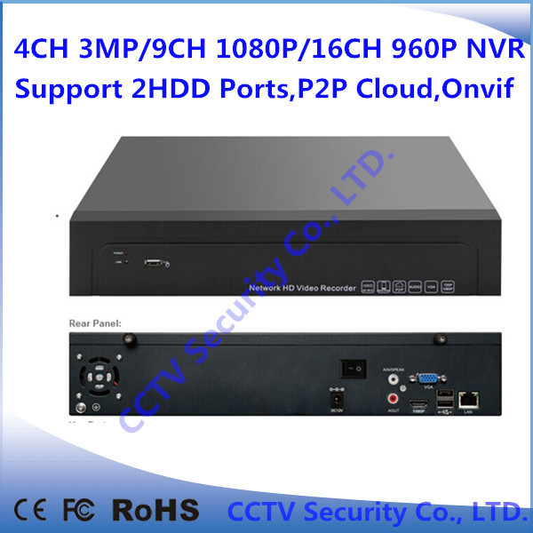 P2P Cloud CCTV HD H.264 1080P HDMI Linux Embedded 16ch Onvif NVR Recorder Support 2SATA HDD ports &smart phone(China (Mainland))