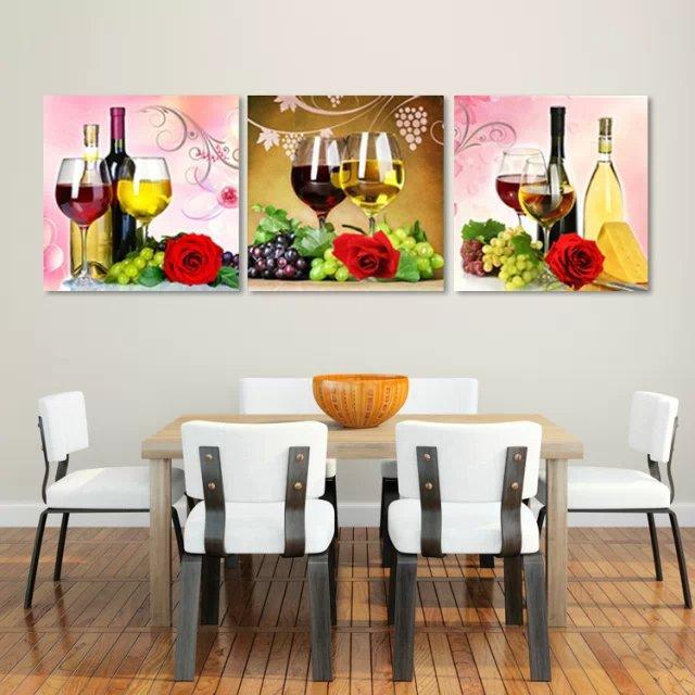 Keuken Decoratie Appel : Fruits and Wine Canvas Wall Art