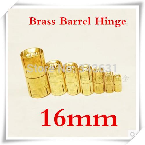 10pcs 16mm Brass Barrel Hinge Cylindrical Hidden Cabinet Hinges Concealed Invisible Mortise Mount Hinge(China (Mainland))