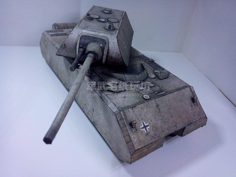 Panzer VIII Maus Panzerkampfwagen VIII Maus Tank Papler Model Do It Yourself DIY(China (Mainland))