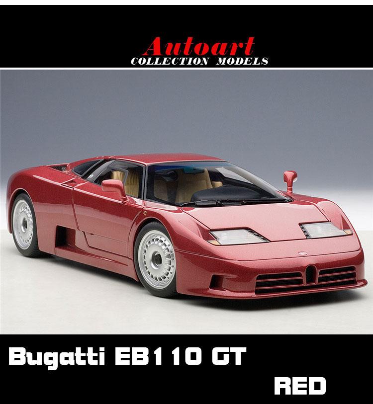 1:18 Autoart Bugatti EB110 GT red Alto Bugatti car model(China (Mainland))