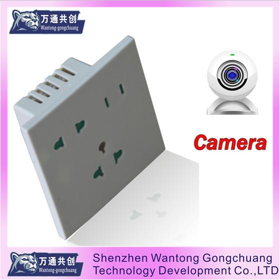 Hot Sell Wall outlet Camera 1200tvl Camera HD ccd Mini Camera with Box(China (Mainland))