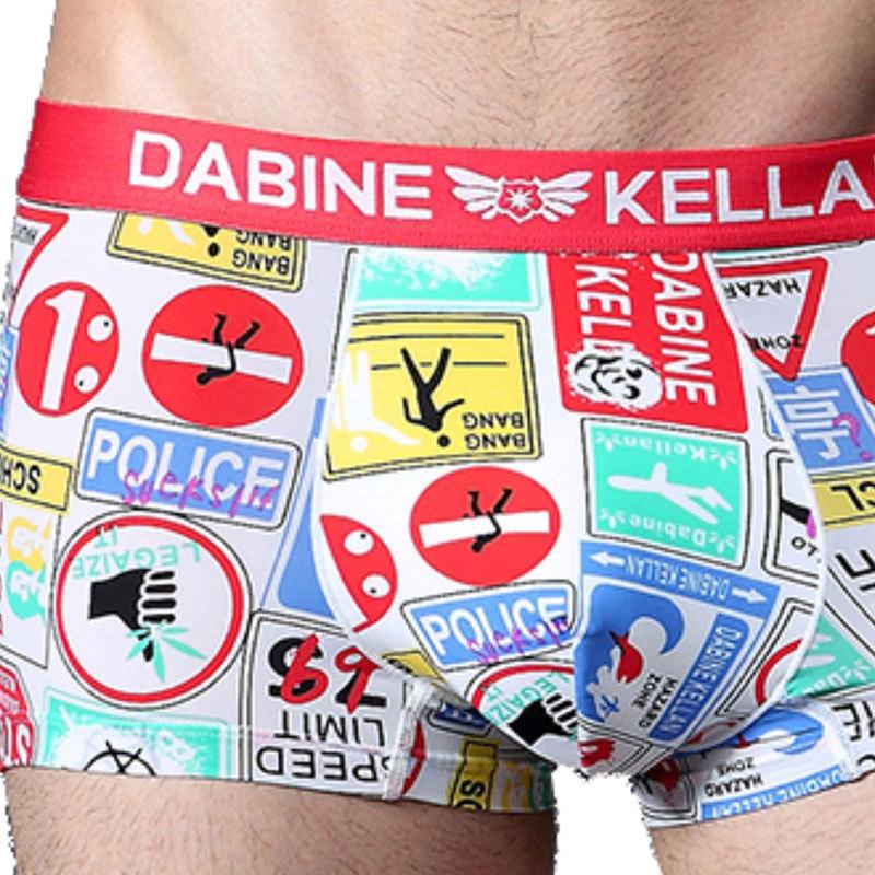 2015 Dabinekellan New Sexy Lip Print Underwear Men s boxer Shorts Underpants Boxers Boy Shorts men