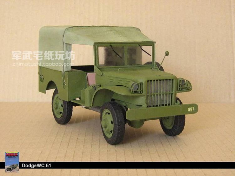 World War II WC-51 jeep truck car Papler Model Do It Yourself DIY(China (Mainland))