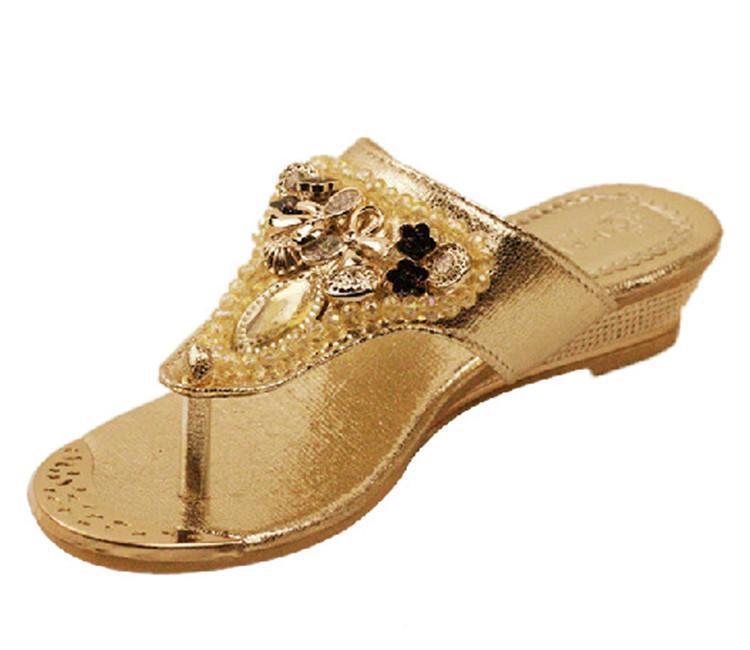 Glitter Wedge Flip Flops Gold Glitter Flip Flop Wedge