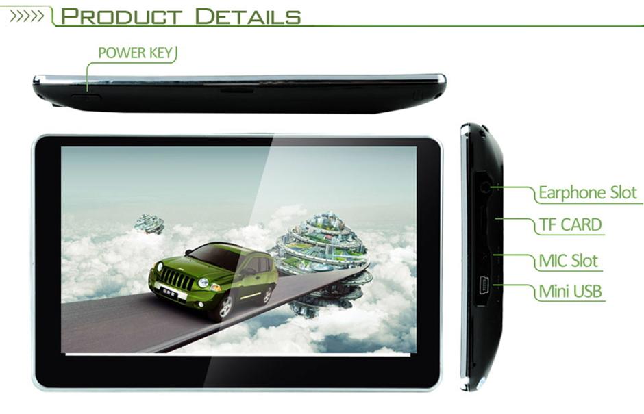 7 inch GPS Car Navigation MTK 4GB Capacity UK EU AU NZ Maps Speedcam POI with Sunshade(China (Mainland))
