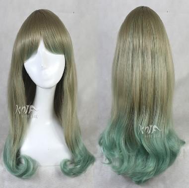 Japanese Harajuku lolita temperament long hair gradient green pear 65cm(China (Mainland))