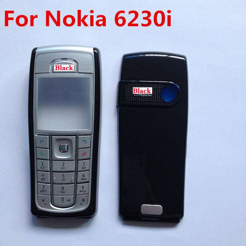 Good Quality For Nokia 6230 6230i Full Housing Front Back Cover Case Keypad BLACK(China (Mainland))
