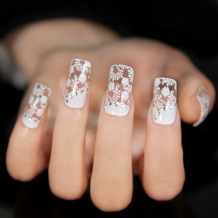 3d lace nail art sticker decal full wraps nail decoration for 3d nail art decoration