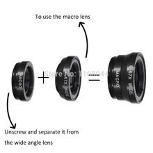 Universal Clip 3 in 1 Camera Lens Kit for smartphones Fish Eye Lens 2 in 1